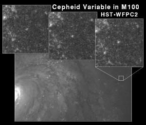Cepheid Di Galaksi M100