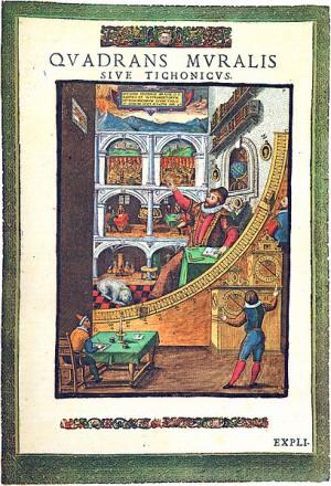 Tycho Brahe dalam observatoriumnya