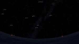 Posisi rasi Lyra dan Vega 22 April pk 3 dinihari