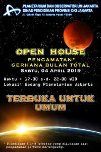 Poster pengamatan GBT di Planetarium Jakarta