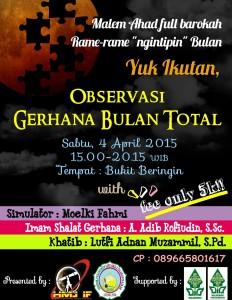 Poster pengamatan GBT oleh UIN Walisongo Semarang