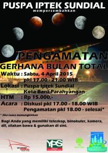 Pengamatan Gerhana Bulan Total di Puspa Iptek Sundial Padalarang