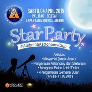 Poster pengamatan GBT di Ambon oleh Amboina Astronomy Club