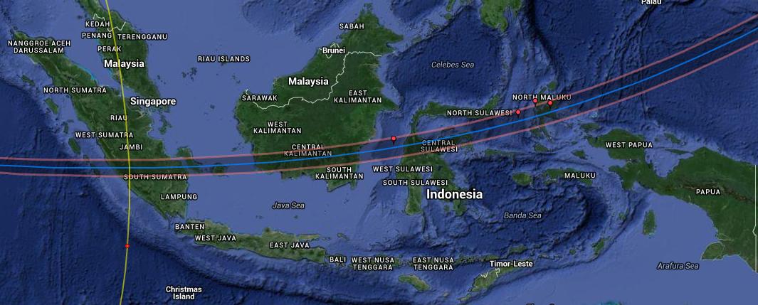 Peta Interaktif Gerhana Matahari Total 9 Maret 2016 di Indonesia ...