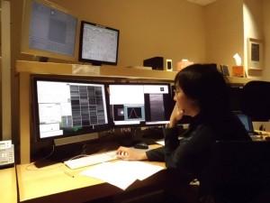 Hanin di ruang kontrol teleskop Chili