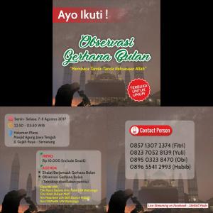 Gerhana Bulan Sebagian di Semarang