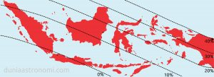Peta Gerhana Matahari Cincin (Sebagian) 21 Juni 2020 di Indonesia
